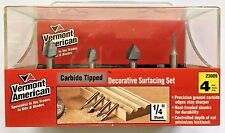 Vermont American 23009, Carbide Tipped Decorative Surfacing Router Bit Set