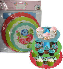 Cake Cupcake Party Stand Table Display Vintage Tea Party 3 Tier Sandwich Food