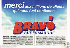 Publicité advertising 1987 (2 pages) Supermarché Bravo