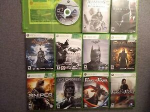Xbox 360 Lot of 11 Popular Stealth/Action Game Bundle - Most CIB- Lightly Used