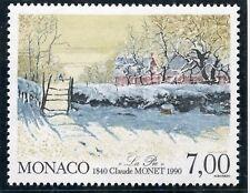 STAMP / TIMBRE DE MONACO N° 1747 ** ART / TABLEAU / CLAUDE MONET / LA PIE
