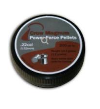CROW MAGNUM POWER-FORCE PELLETS .22 (PKT 200) Air Gun Pistol Rifle Ammunition ML