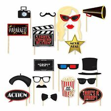18x Oscars Photo Booth Selfie Props Movie Hollywood Premiere Awards Party Pack