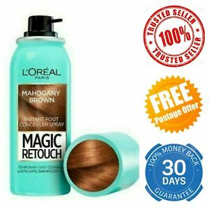 L'Oreal Magic Retouch Mahogany Instant Root Concealer Grey Hair Coverage Spray