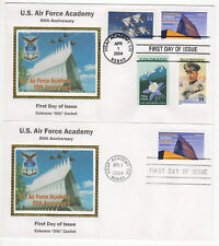 SSS: 2 pcs Colorano Silk FDC 2004  37c US Air Force Academy  Combo+1  Sc #3838