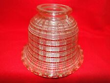 542   one smoked ribbed Glass Art Deco Light Fixture Lamp Shade chandilere