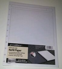 Ruled Refill Paper for Caliber Refillable Discbound Notebook or ARC 8.5 x 11