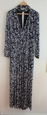 Blue Floral Forever New Maxi Dress With Choker Size 8