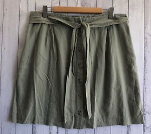 NEW SUSSAN KHAKI BUTTON THROUGH SKIRT WITH SIDE POCKETS - SIZE 16 ❤️