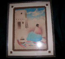 "Figi Graphics Art ""Song Of The Morning"" Signed Priscillia 1992 Cast Paper Mache"