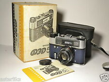 "FED 5C in BOX Blue body Soviet/Russian 35mm Rangefinder Camera, ""70 Years"""