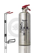 PREMIUM 1 KG ABC POWDER SILVER CHROME FIRE EXTINGUISHER HOME OFFICE CAR KITCHEN