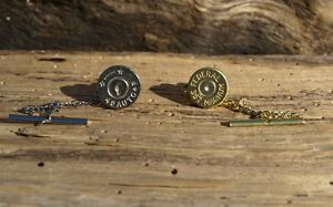 Handmade Bullet Tie Tack. Choose your Caliber and Crystal  A815