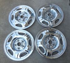 "15"" Set of Four (4) Chrome Skins 2002 03 04 Honda CRV 5 Spoke 15"" steel wheels"
