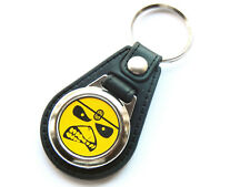 More details for iron maiden yellow design heavy metal band quality leather and chrome keyring