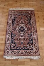 90's unique handmade carpet, Hand Knotted Rajasthan rug Oriental, India 59/97cm