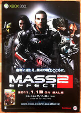 Mass Effect 2 RARE XBOX 360 51.5 cm x 73 Japanese Promo Poster