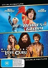 BLADES OF GLORY + THE LOVE GURU - BRAND NEW & SEALED 2-DISC DVD (FERRELL, MYERS)