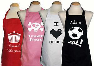 5 - 8 yrs Personalised / printed aprons girls, boys, kids 10+ designs  Christmas