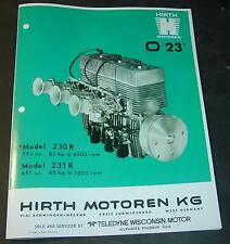 HIRTH SNOWMOBILE ENGINES SPECIFICATION BROCHURE 230 R & 231 R 647 & 793 CC COPY