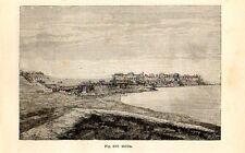 Stampa antica MELILLA enclave della Spagna in MAROCCO Morocco 1889 Old Print