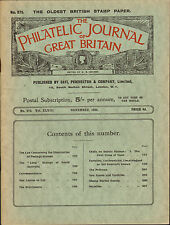 More details for the philatelic journal of great britain . november 1938