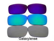 Galaxy Replacement Lenses For Oakley Crankcase Titanium&Green&Purple Polarized