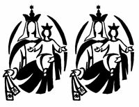 Vinilo de corte pegatina SILUETA VIRGEN DEL CARMEN  X2 DE  7CM X 10CM sticker