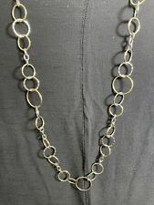 Cookie Lee Silver And Gold Hoops Necklace