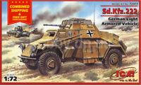 ICM 72411 - 1/72 SD.KFZ.222 German Light Armored Vehicle 1939 - 1945, (WWII)
