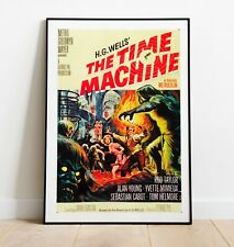 Vintage Movie Poster, The Time Machine Poster, Sci-Fi Print