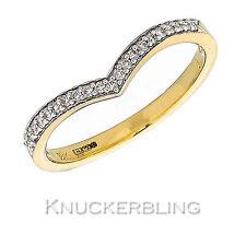 Band Round Yellow Gold 18 Carat Fine Diamond Rings