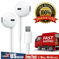 New USB Type-C Earphone HiFi Stereo Headphones with Mic & Volume For Huawei USA