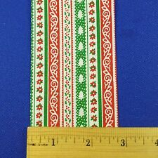 "Vintage Lion Craft Christmas Ribbon Trim Calico Stripes GAIETY 2.75"" x 10 Y"