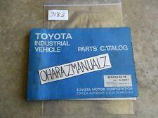 Toyota Forklift 5FGC18 20 25 Parts Catalog Manual 94M G806-1