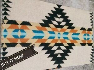 """NEW PENDLETON WOOLEN MILL BLANKET WT.WOOL """"REMNANT"""" TRIBAL FABRIC RANCHO USA"""