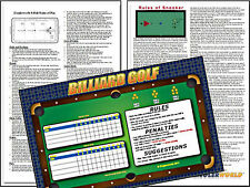 LAMINATED POOL BILLIARD RULES POSTERS - 8 BALL- SNOOKER & POOL TABLE CUE GOLF