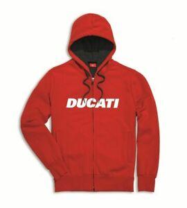 Ducati Ducatiana Sweatjacket Sweat Avec Capuche Pullover Hoodie Rouge Neuf