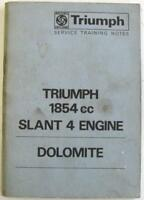 TRIUMPH Dolomite 1854cc Slant 4 Engine 1971 Service Training Notes Booklet
