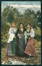 Palermo Costumi Siciliani PIEGHINE cartolina QQ0888