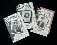 3 Playbills THE AMUSEMENT GO-ER Guide to Finer Entertainment Toledo Ohio 1940s