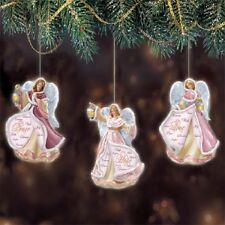 Angels of Light Ornaments - Breast Cancer Angels  Bradford Exchange