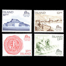 Iceland 1986 - 200th Anniversary of Reykjavik Architecture City - Sc 628/31 MNH