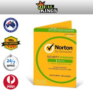 Symantec Norton Internet Security Standard 2020 Antivirus 1 User 1 Year PC MAC