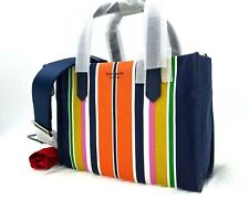 Kate Spade Medium Satchel Parisian Navy Multi Kitt Stripe PXRUA333