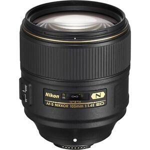 NEW! Nikon AF-S NIKKOR 105mm f/1.4E ED Lens: 20064