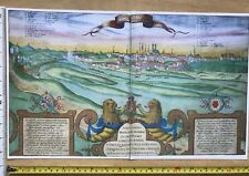Antique Colour Map of Munich, Germany: 1617 by Braun & Hogenberg REPRINT 1600's