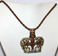 Leather Mixed Metals Beauty Costume Necklaces & Pendants