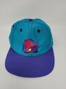 Vintage Teal Purple Taco Bell Snapback Hat