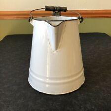 Vintage White Enamel Coffee Pot